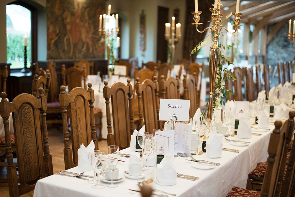 table layouts at barberstown castle