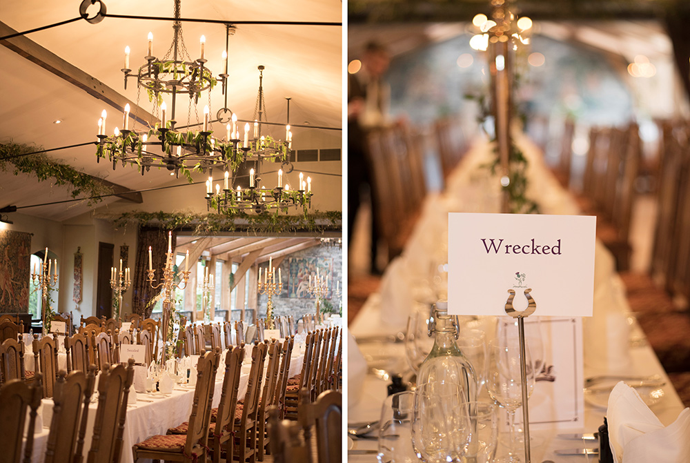 table names for barberstown castle wedding