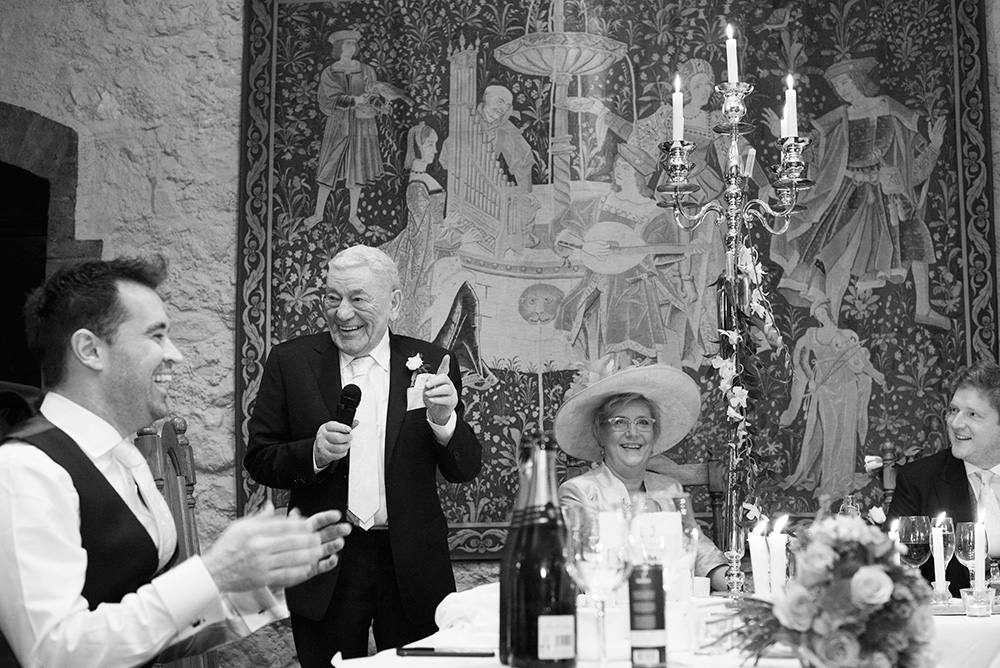 wedding speeches at barberstown castle wedding