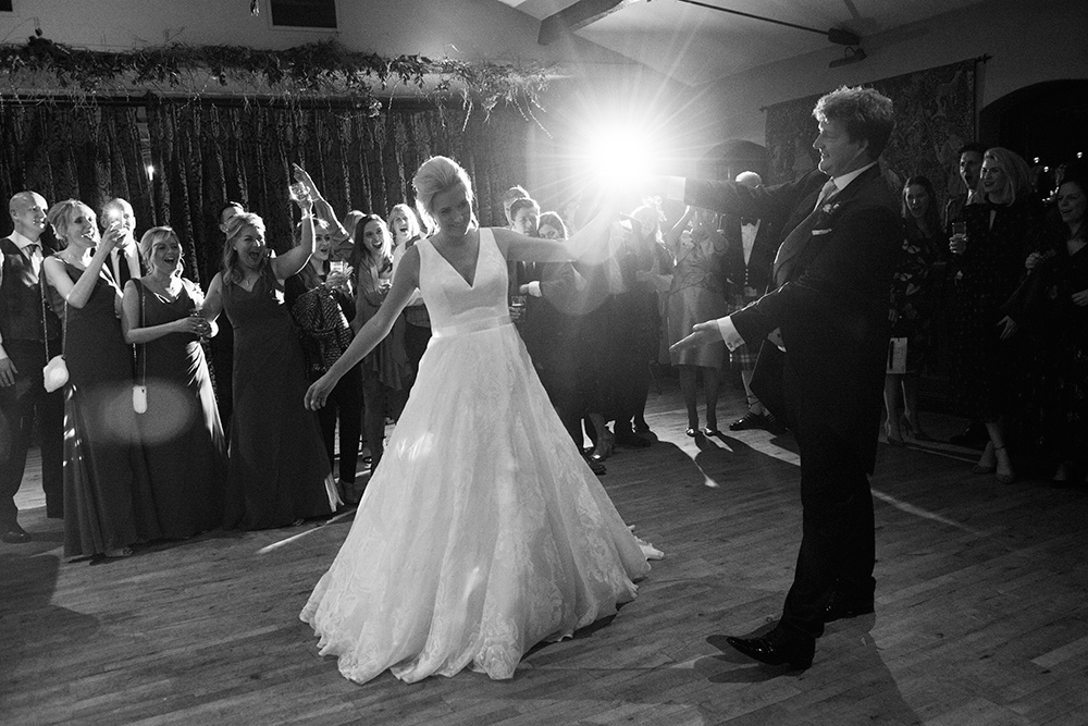 first dance at wedding at barberstown castle