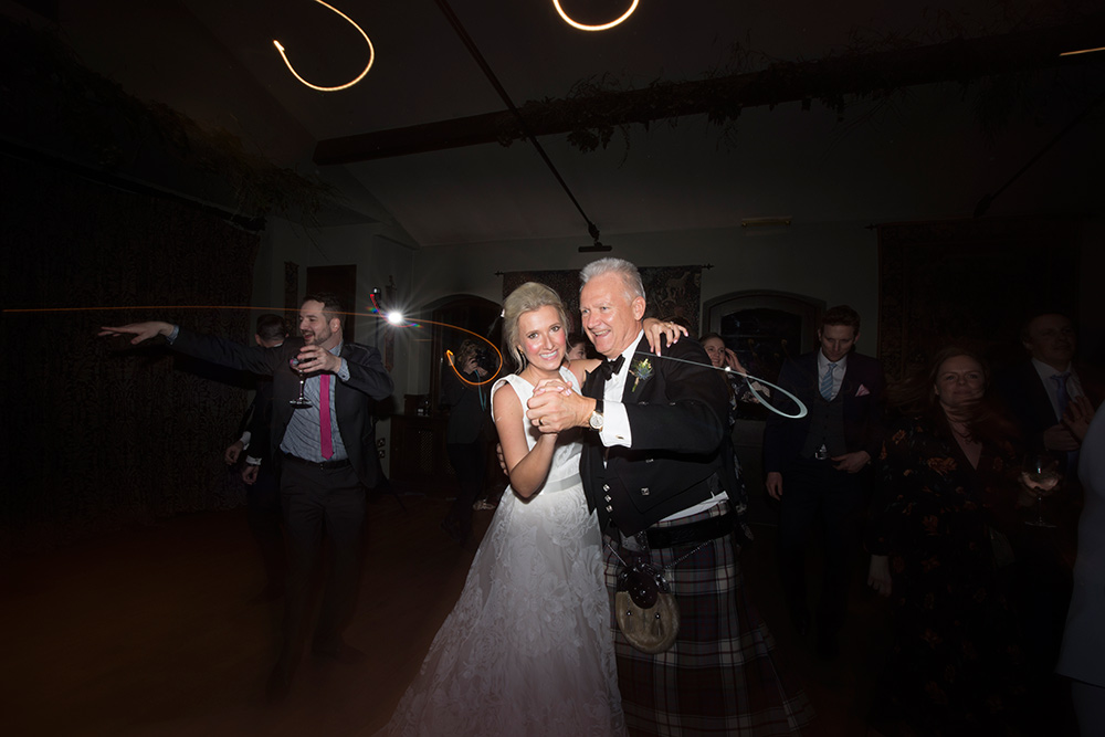 first dance with your dad at wedding at barberstown castle