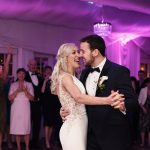 bride and groom have their first dance rathsallagh hotel wedding