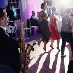 wedding guests dance saxophone rathsallagh house
