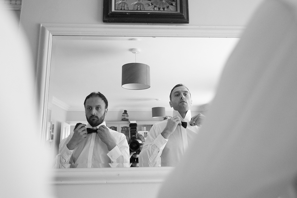 groom prep wedding at Rathsallagh House