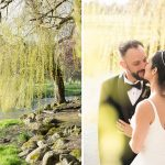 brdie and groom under willow tree wedding photography