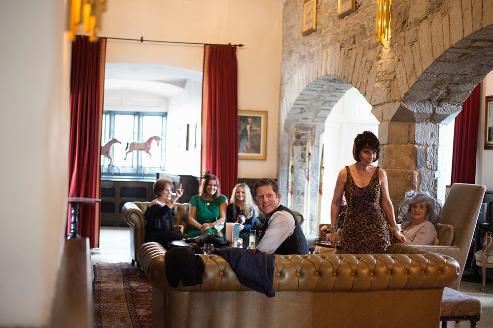 drinks reception wedding at kilkea castle