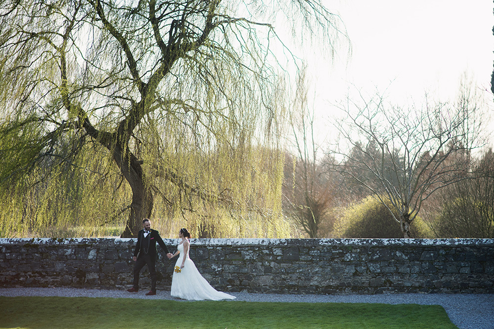 outdoor wedding photos at kilkea castle wedding