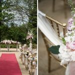 wedding details outdoor wedidng ceremony druids glen wicklow