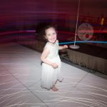 flower girl dancing at druids glen wedding