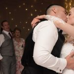 bride and groom first dance kiss at druids glen wedding
