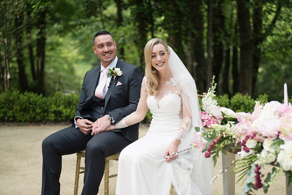 stunning summer outdoor wedding ceremony druids glen