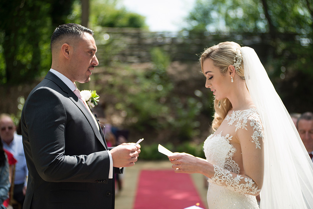 wedding vows outdoors wedding ceremony druids glen