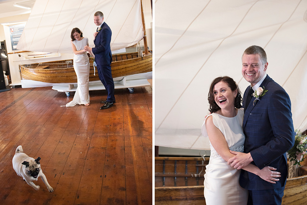 wedding ceremony at maritime museum of ireland