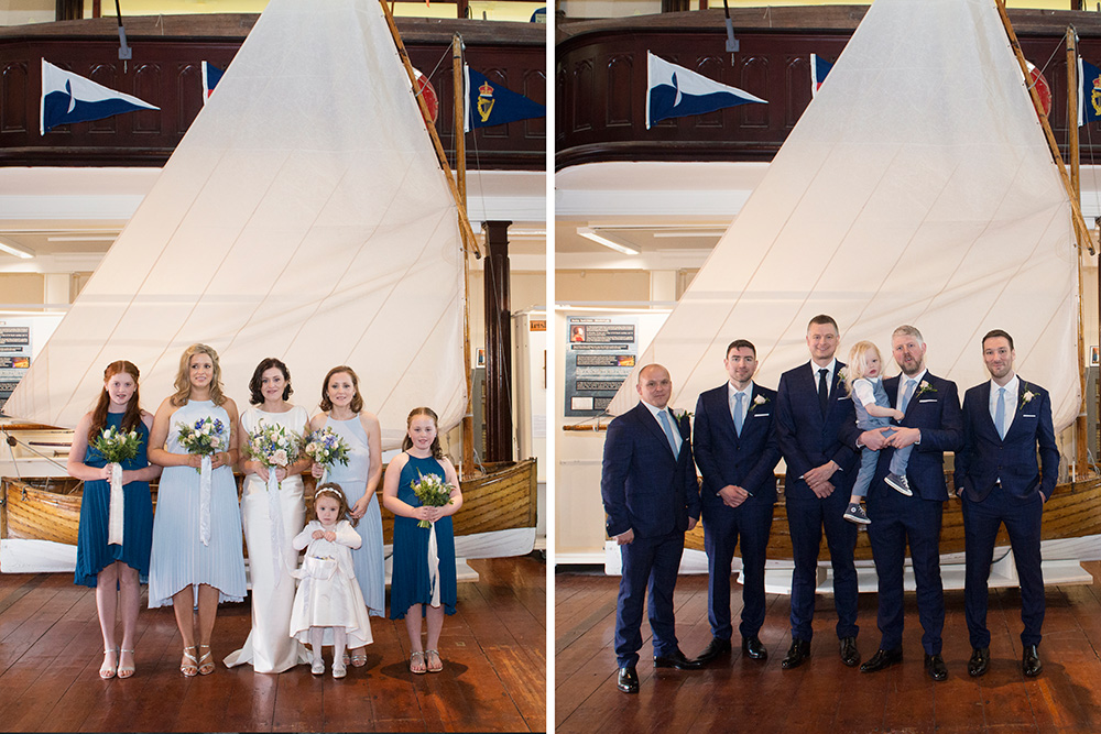 bridal party at maritime museum of ireland