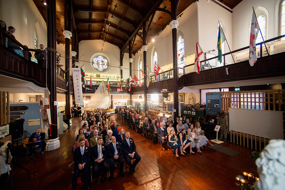 full wedding ceremony at maritime museum of ireland