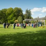 drinks reception outside rathsallagh house wedding