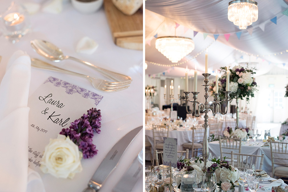 indoor table plans at rathsallagh house wedding