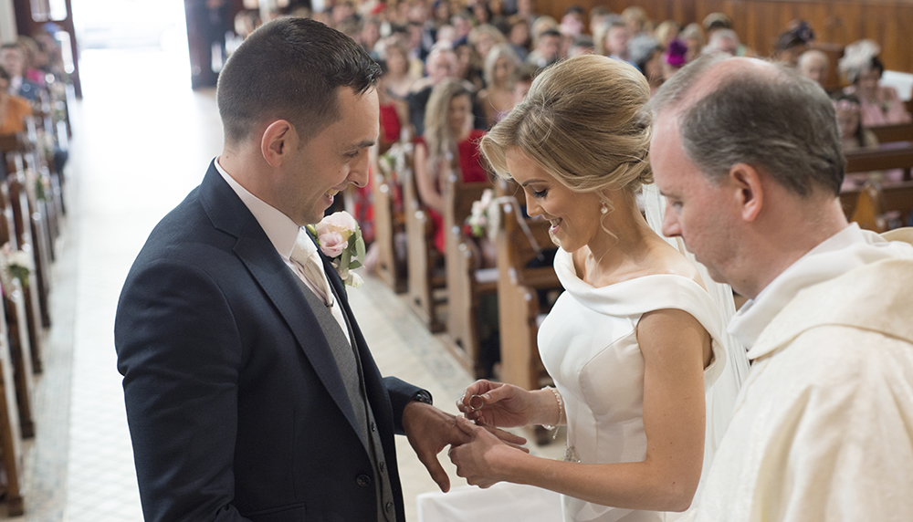 ring exchange church of the most holy trinity allenwood kildare wedding