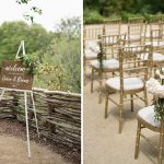 wooden wedding sign outdoor ceremony druids glen resort