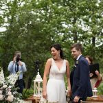 newlyweds druids glen outdoor wedding ceremony