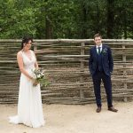 bride and groom at druids glen outdoor ceremony