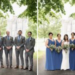 bridesmaids and groomsmen outside kinnitty castle wedding