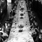 long banquet table wedding kinnitty castle wedding photography