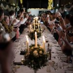 kinnitty castle wedding speech long banquet table