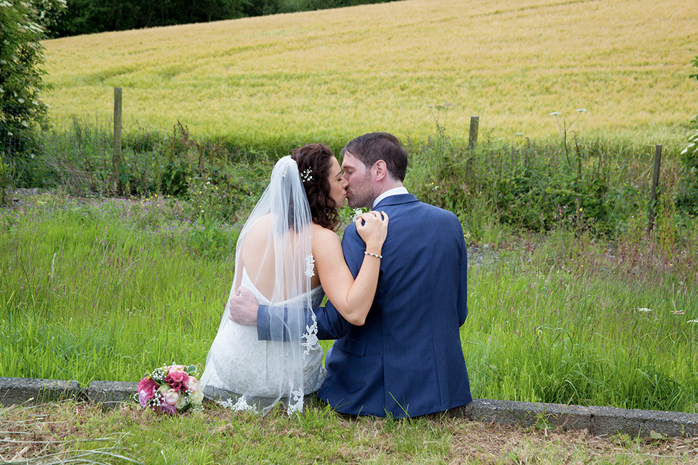 wedding bride and groom at summerhill house hotel