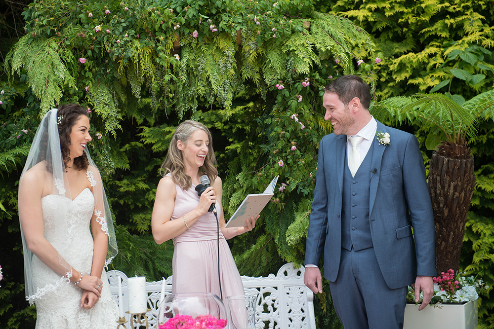 outdoor wedding at summerhill house hotel