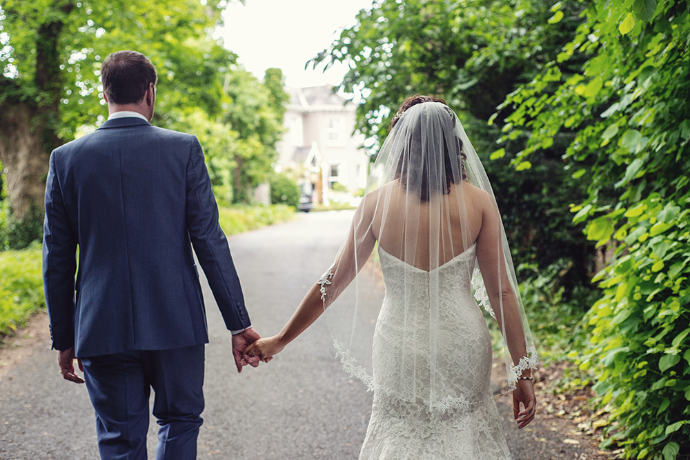photos in the grounds of summerhill house hotel wedding