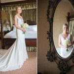 bride in dress at clanard court hotel