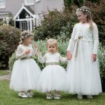 flower girls at wedding at summerhill house hotel