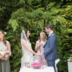 wedding ceremony outdoors summerhill house hotel