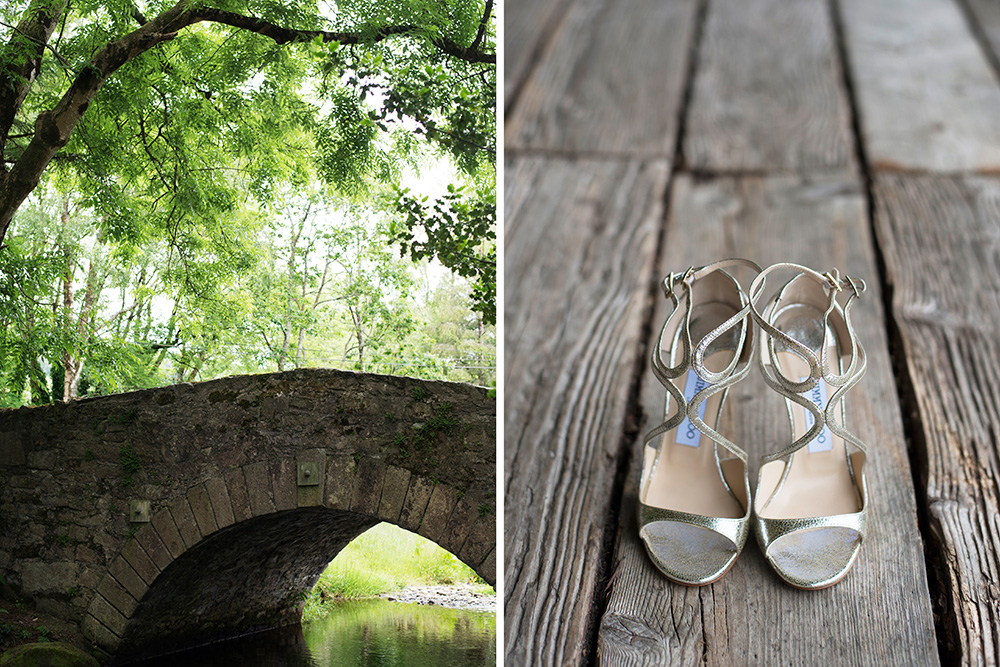 jimmy choo shoes at brooklodge wedding