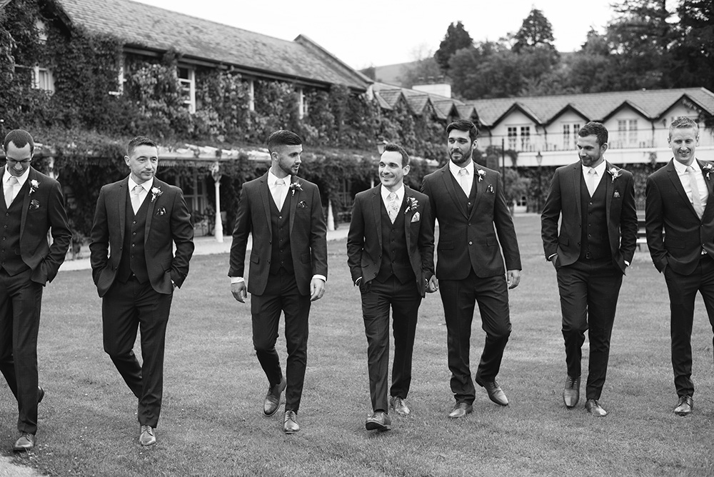 Groomsmen at Brooklodge Hotel
