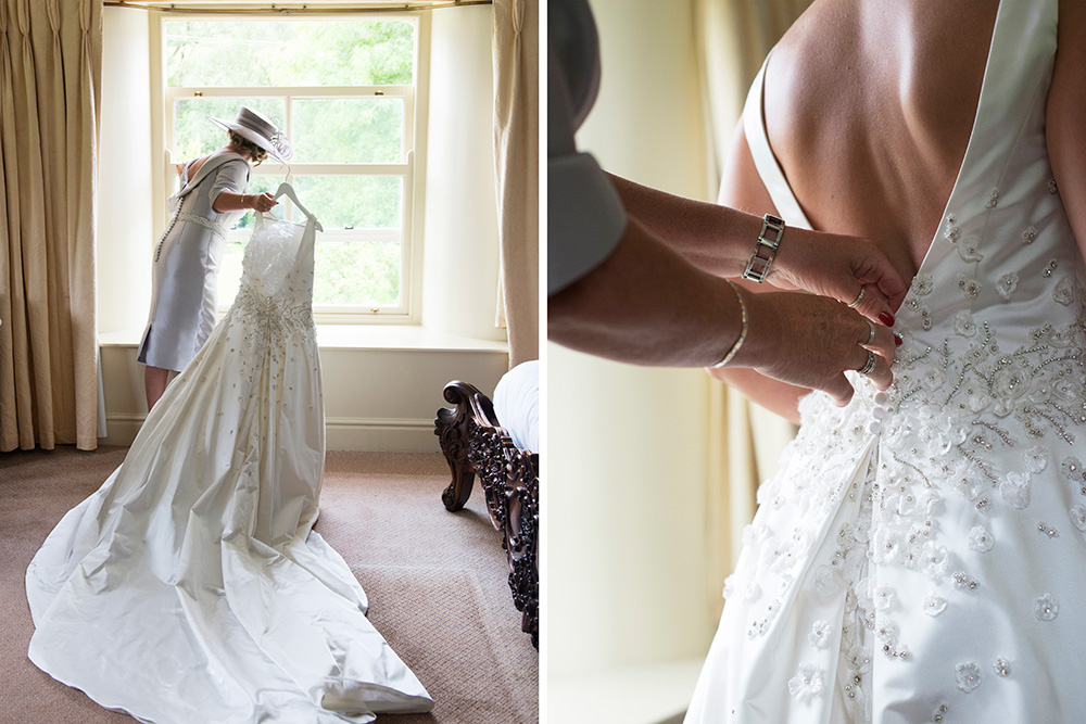 Wedding dress at Brooklodge Hotel