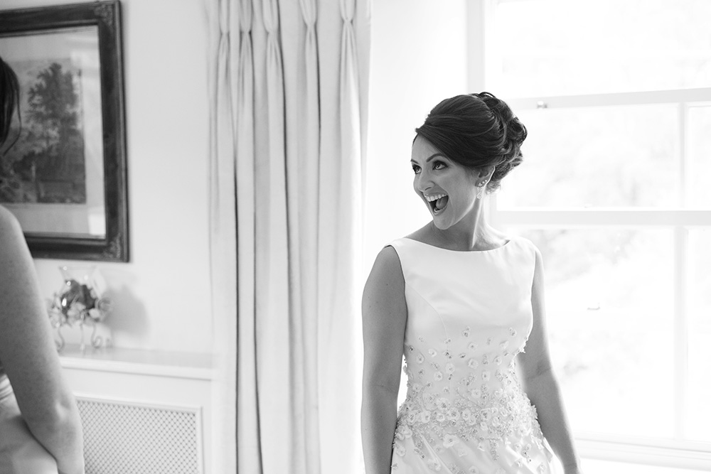 bride at Brooklodge Hotel wedding