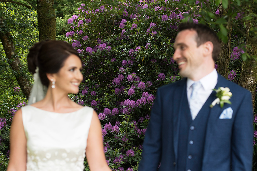 summer wedding at Brooklodge Hotel