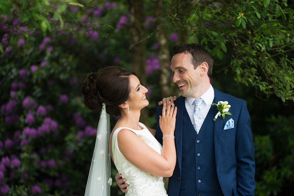 bride and groom photos at Brooklodge Hotel