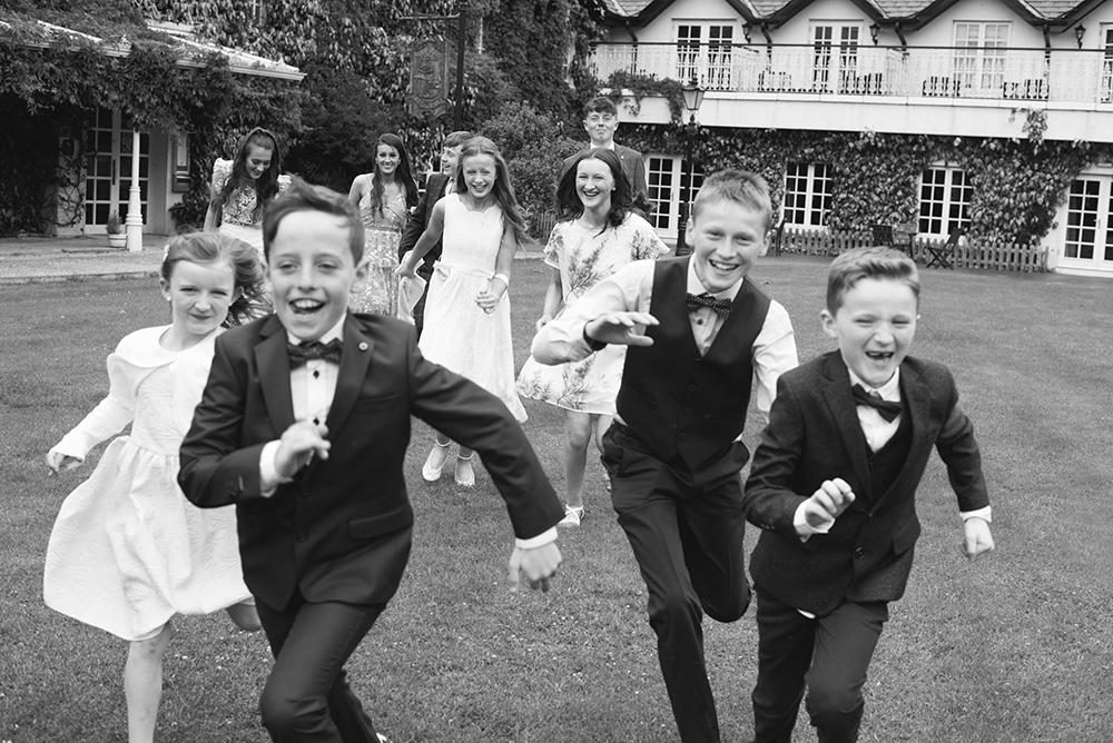 children at Brooklodge Hotel wedding
