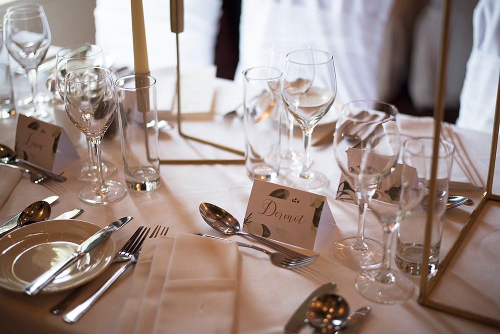 wedding tables at Brooklodge Hotel