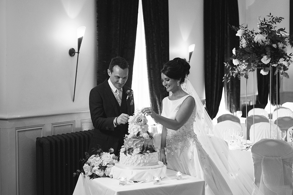 cutting cake at Brooklodge Hotel