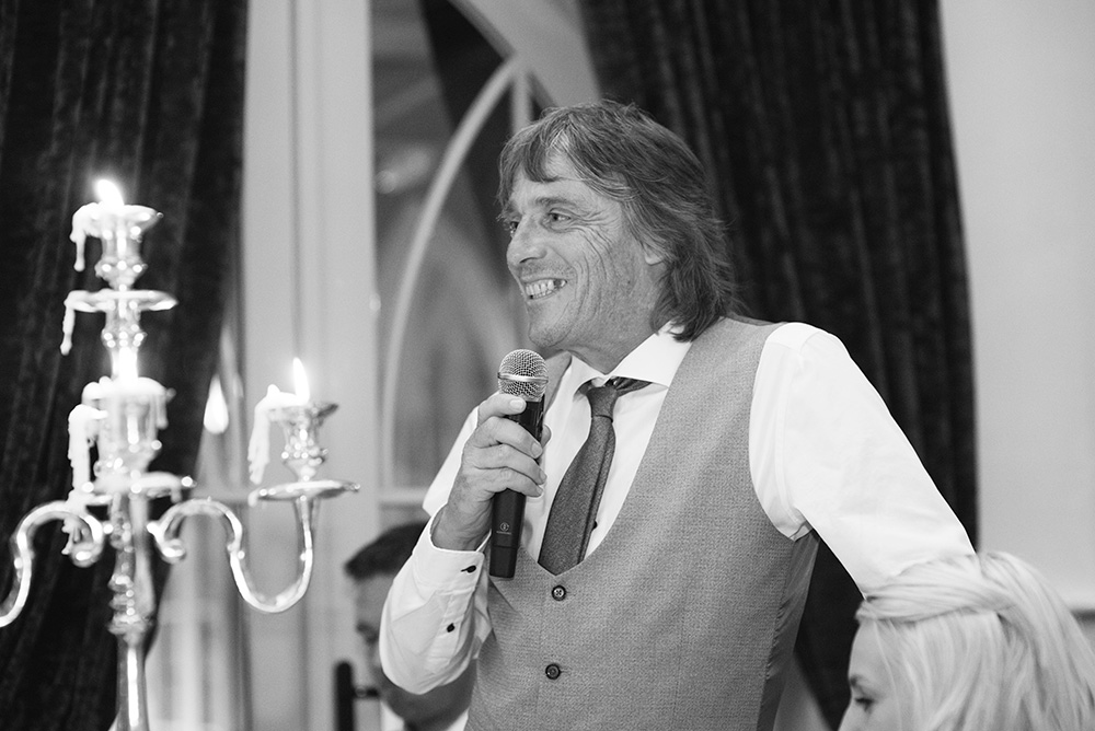 wedding speeches at Brooklodge Hotel