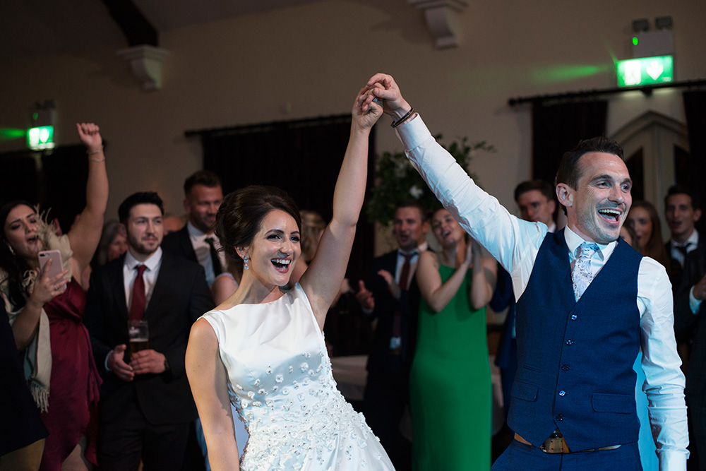first dance at Brooklodge Hotel wedding