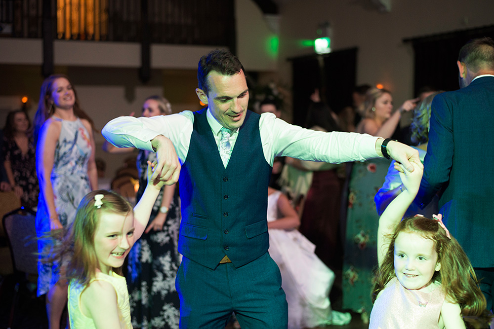 dancing at Brooklodge Hotel wedding
