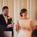 bride and groom toast at Lyrath Estate Wedding