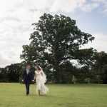 bride and groom with rathsallagh tree at wedding