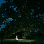 bride and groom at rathsallagh tree wedding night