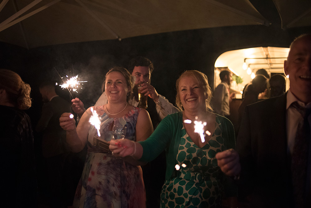 sparklers at wedding at bellinter house wedding